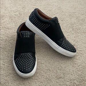 Boutique black studded sneaker